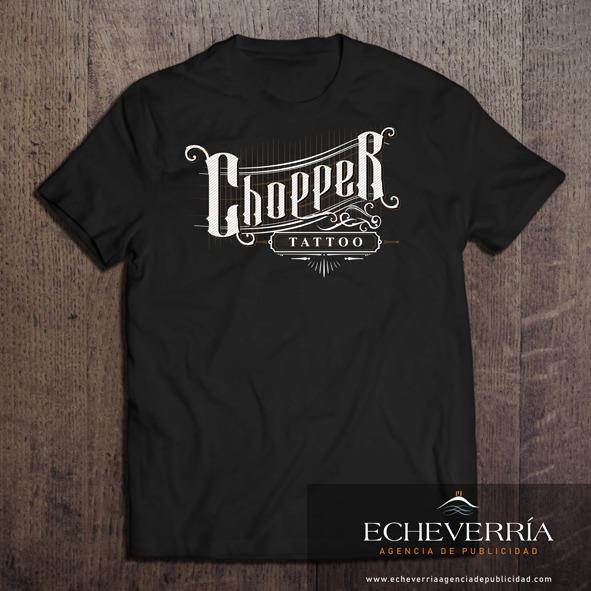Diseño de Logotipo y camisetas para Chopper Tattoo. Argentina