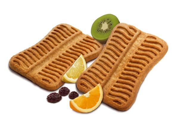 Gullón, ilustración hiperrealista Barritas multi Frutas, kiwis, naranja, limón, pasas