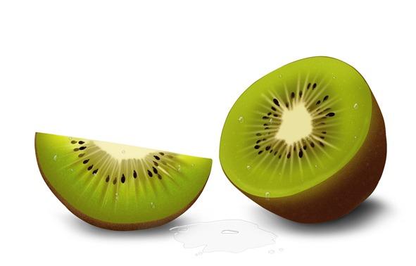 Gullón, ilustración hiperrealista Barritas multi Frutas, kiwis
