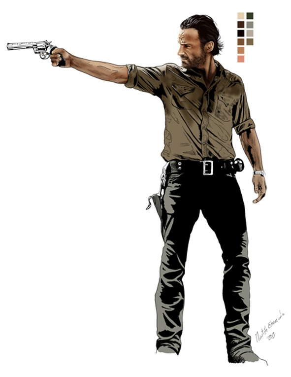 Ilustración The Walking Dead Brasil Rick Grimes