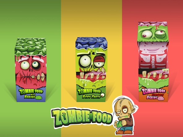 Packaging Logotipo Zombie Food