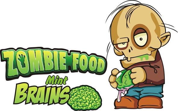 Logotipo Zombie Food Mint Brains