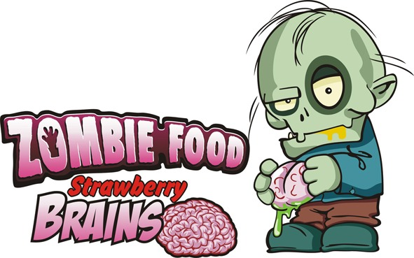 Logotipo Zombie Food Strawberry Brains