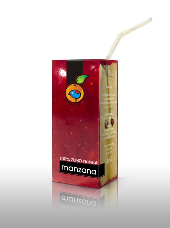Only Fruit.... Manzana Packaging de los zumos de fruta naturales, de Cooperativa Frutícola.