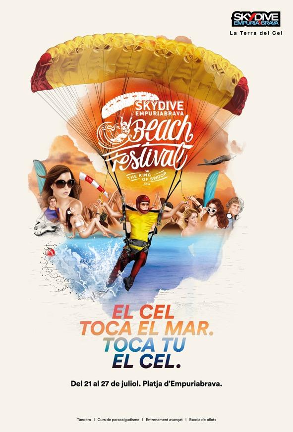 Cartel Skydive Empuriabrava Beach Festival