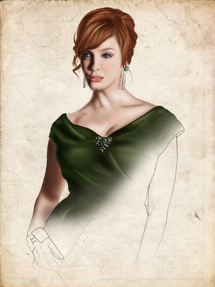 "Cinema & Series Ilustraciones para el articulo ""Mad Men. Historias de las agencias de publicidad"". Joan Holloway, Christina Hendricks"