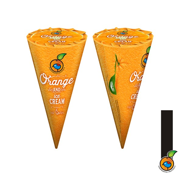 Packaging Orange and ice cream Cooperativa Frutícola