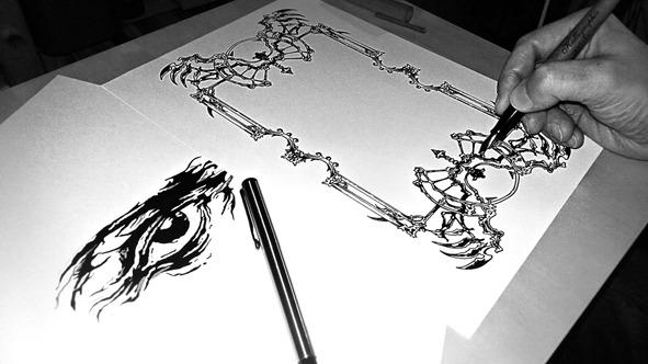 Ilistración Moriarty Ilusionist Diseño de cartas Zener para mentalistas y magos profesionales.