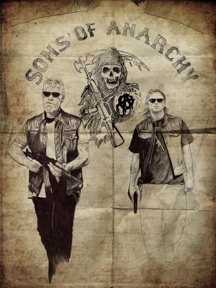 """Ilustraciones para el articulo """"Sons of Anarchy"""""""