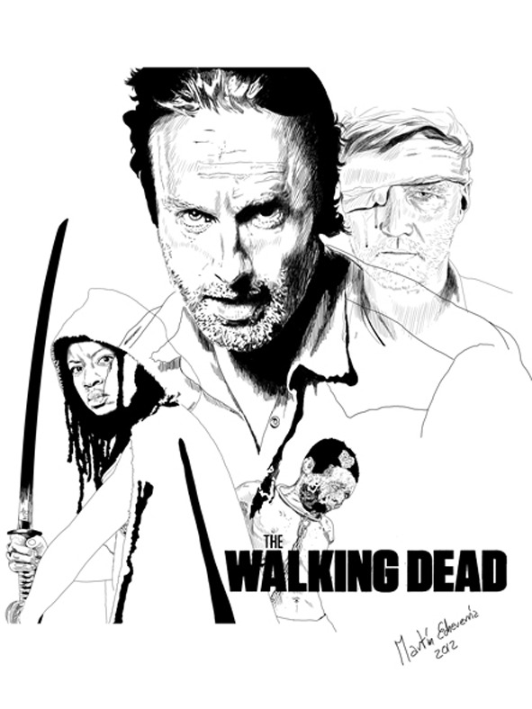 Ilustración portada The Walking Dead Brasil