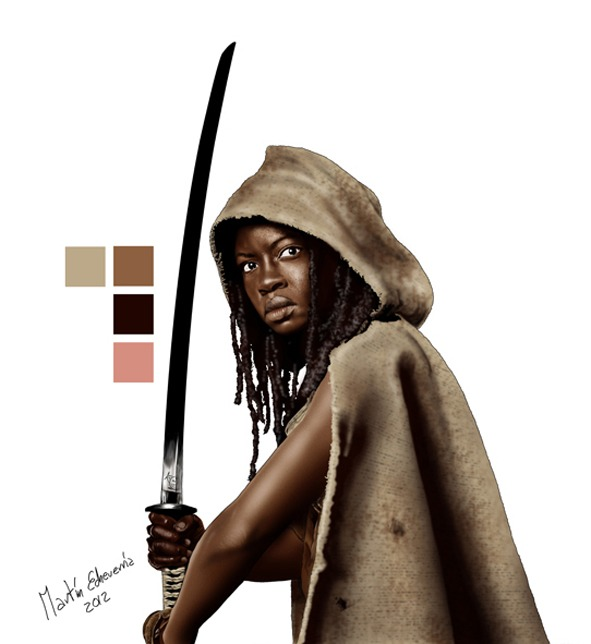 Ilustración The Walking Dead Brasil Michonne