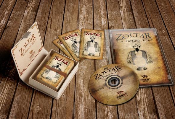 """Zoltar. The Fortune Teller Zoltar. The Fortune Teller. El mago adivinará lo que piensa el público gracias a las tarjetas. Creación y diseño de """"Zoltar. The Fortune Teller"""" para magos y mentalistas profesionales."""