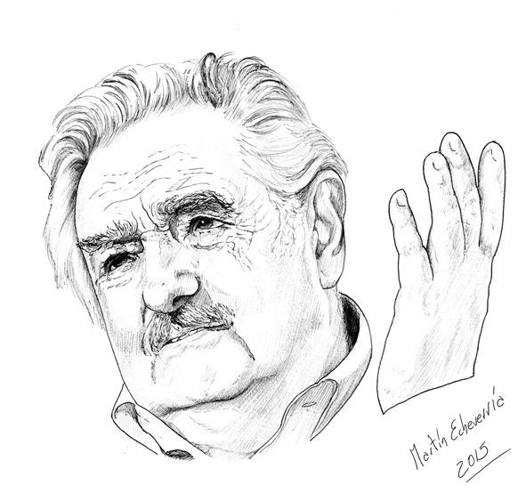 """Ilustración José """"Pepe"""" Mujica,"""