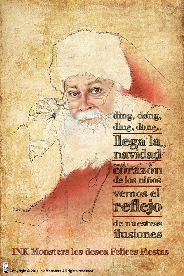 Campaña de Navidad. Ilustración creada para agradecer a los clientes su colaboración.