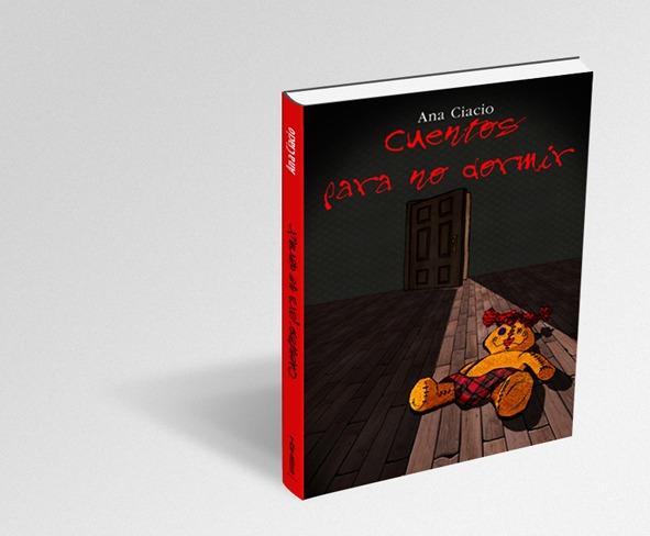 """Diseño e ilustración de la portada del libro """"Cuentos para no dormir"""" de Ana Ciacio, para la Editorial Totem. Serie de cuentos infantiles."""