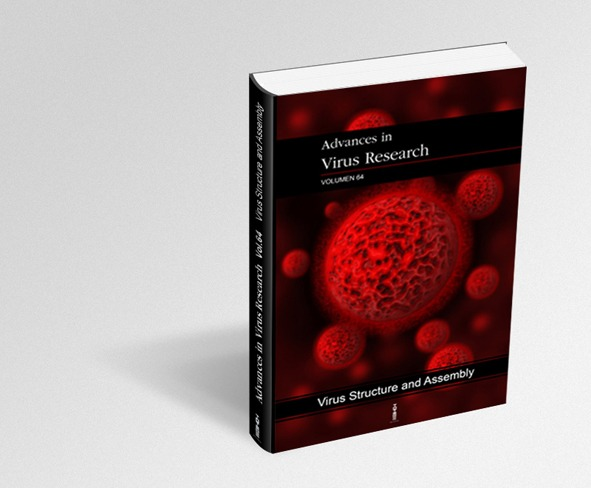 Diseño e ilustración de la portada del libro Advence in Virus Research Vol.64, Virus Structure and Assembly, para la Editorial Thotem.
