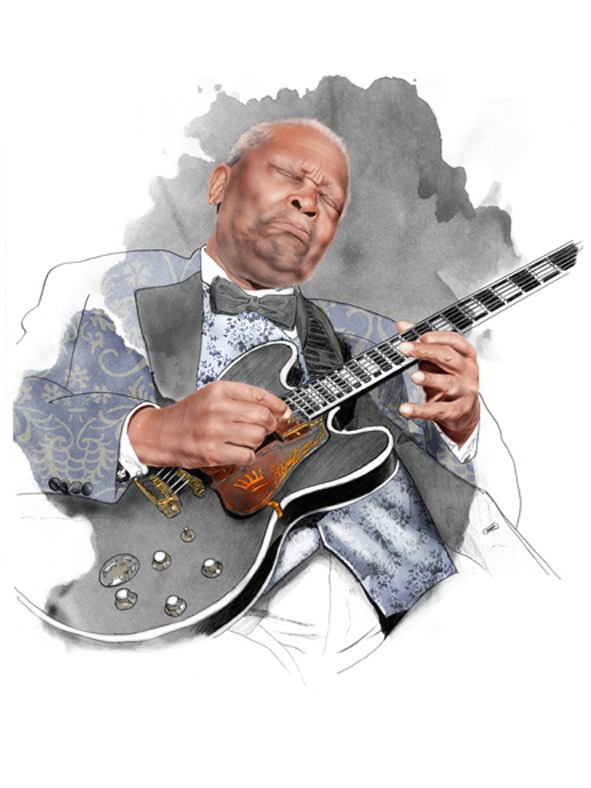 Ilustración Soul Legends BB King and Lucille