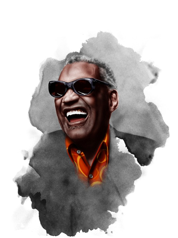 Ilustración Soul Legends Ray Charles.