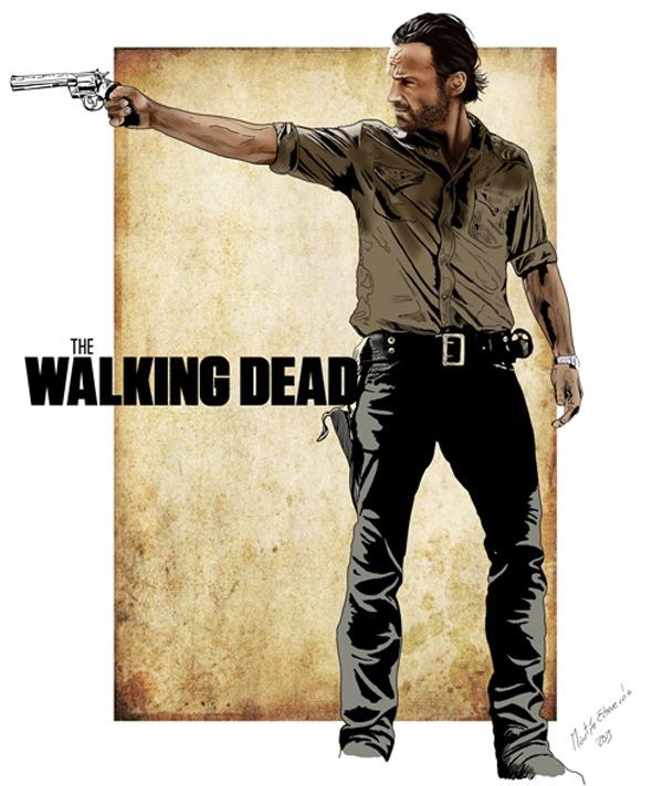 Ilustración The Walking Dead Brasil Rick Grimes
