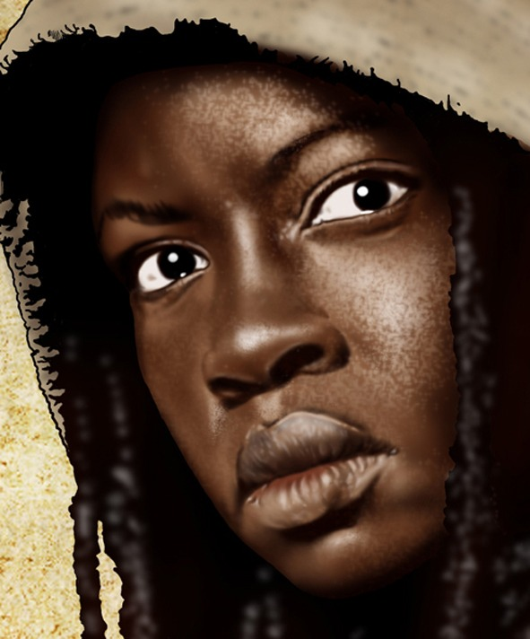 Ilustración The Walking Dead Brasil Michonne