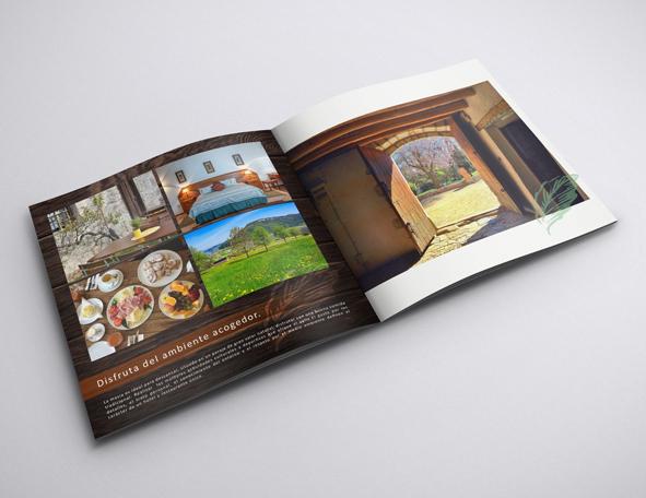Interior del Brochure del Hotel Rural la Masia