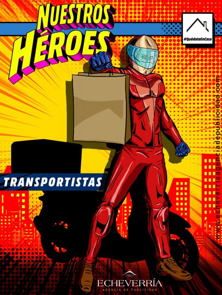 Creatividad del origen de nuestros héroes. El Servicio Delivery, sin contacto entre el repartidor y el cliente, un gran aliado en tiempos de Pandemia.